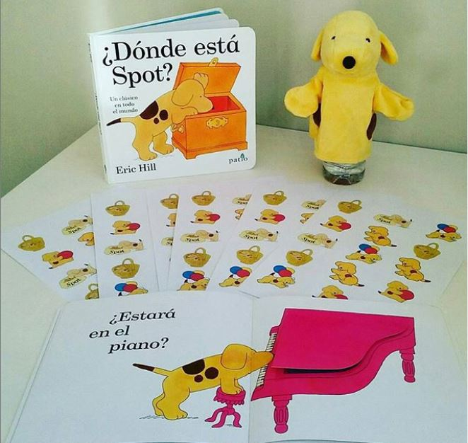 Libro infantil escrito por Eric Hill, llamado Donde esta Spot