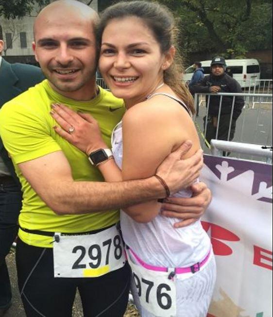 Imanol Landeta y su actual esposa