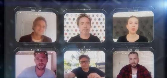 Los avengers se juntan para una videollamada