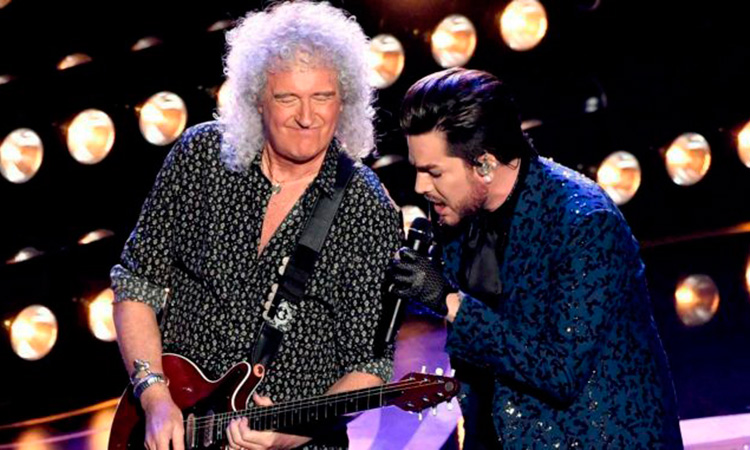 Brian May y Adam Lambert
