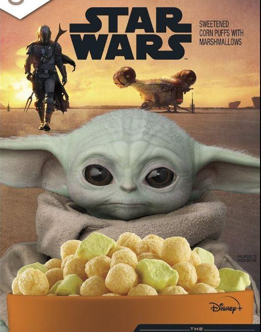 Cereal de Star Wars tendrá a Baby Yoda en la portada de la caja