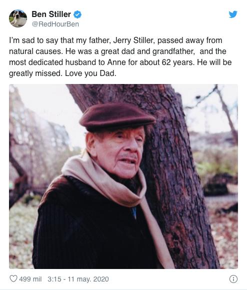 Fallece Jerry Stiller Seinfeld Ben