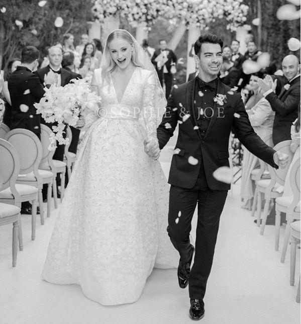 Sophie Turner y Joe Jonas en su boda en Francia