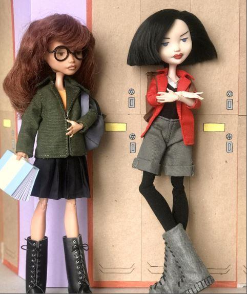 Muñecas creadas por artista independiente de Daria y Jane