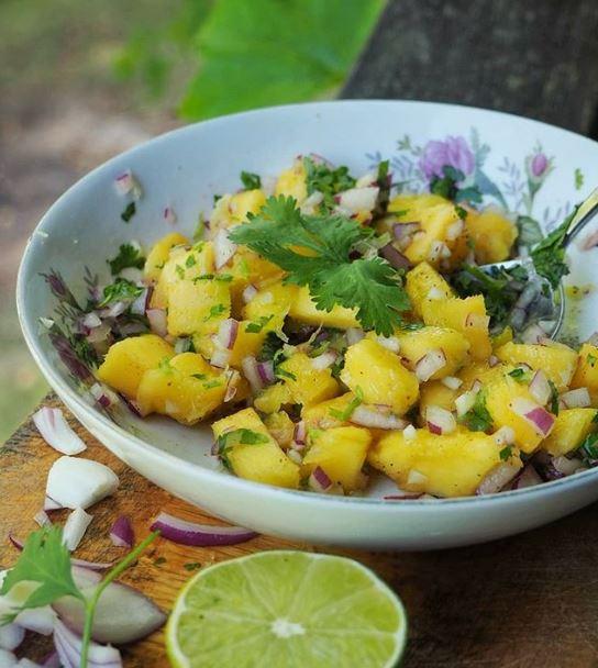 Salsa de mango y habanero