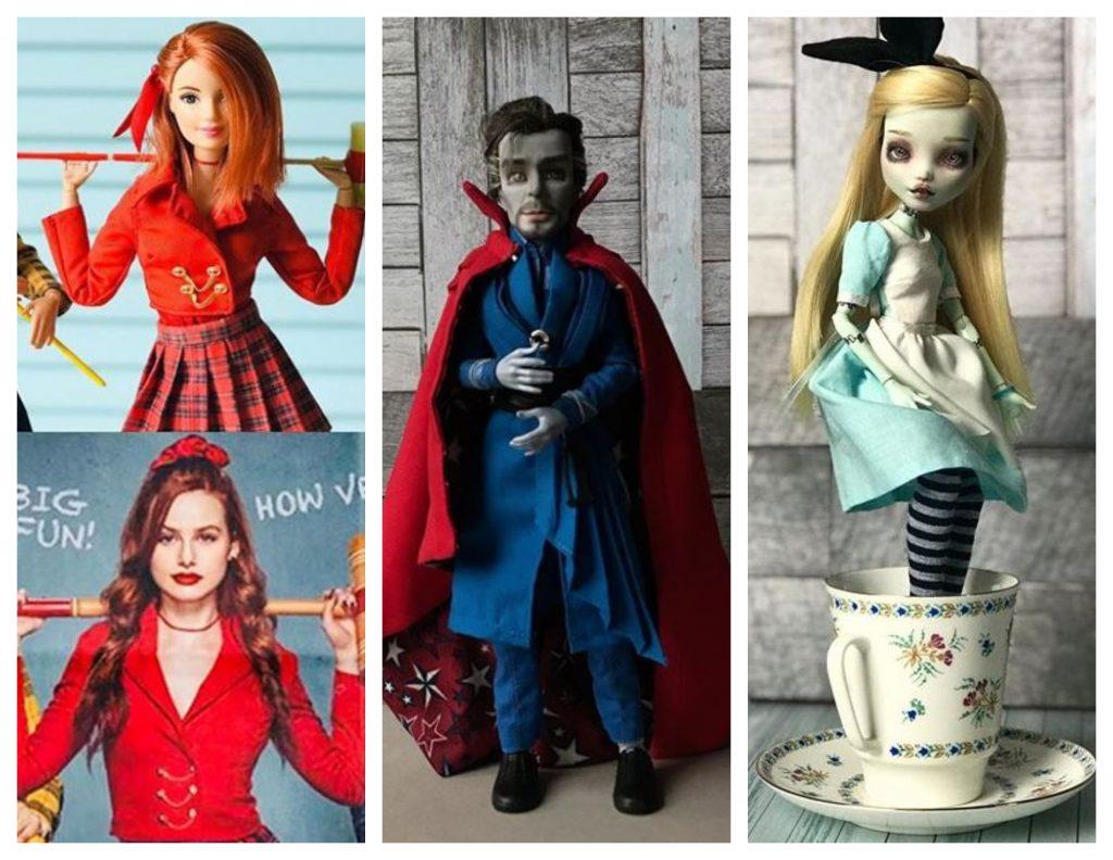 Muñecas de Riverdale. Alice in wonderland y Dr Strange