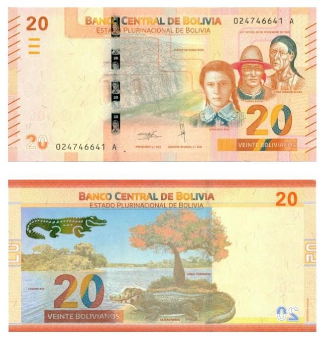 billete más bonito mundo Bolivia