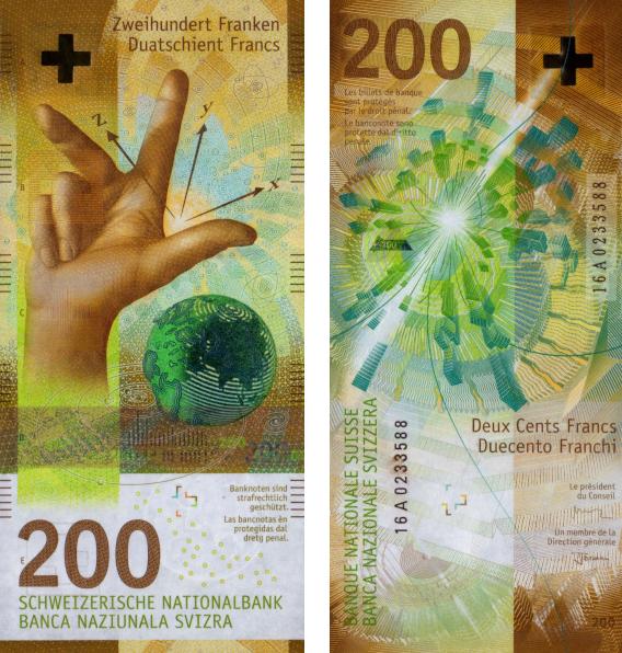 billetes más bonitos mundo Suiza