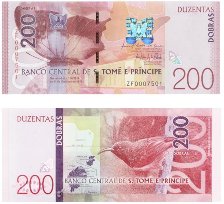 billetes mundo Santo tome