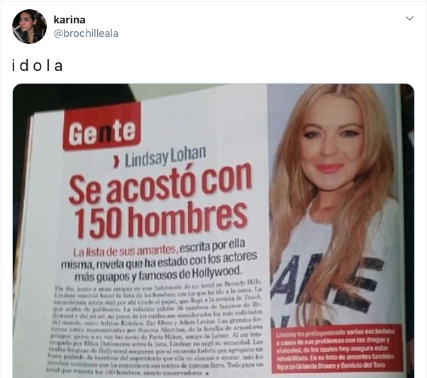Twitter tendencia Lindsay Lohan