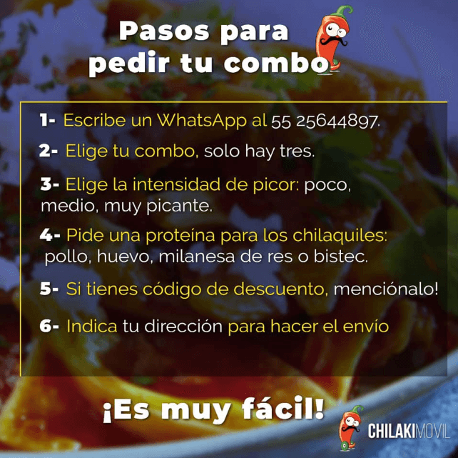 como pedir chilaquiles domicilio