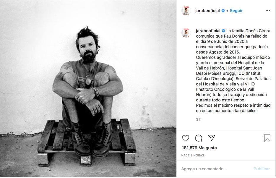 muere Pau Donés vocalista Jarabe de Palo