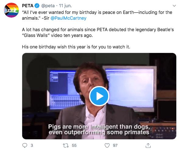 paul mccartney deseo cumpleaños pide gente dejar comer carne