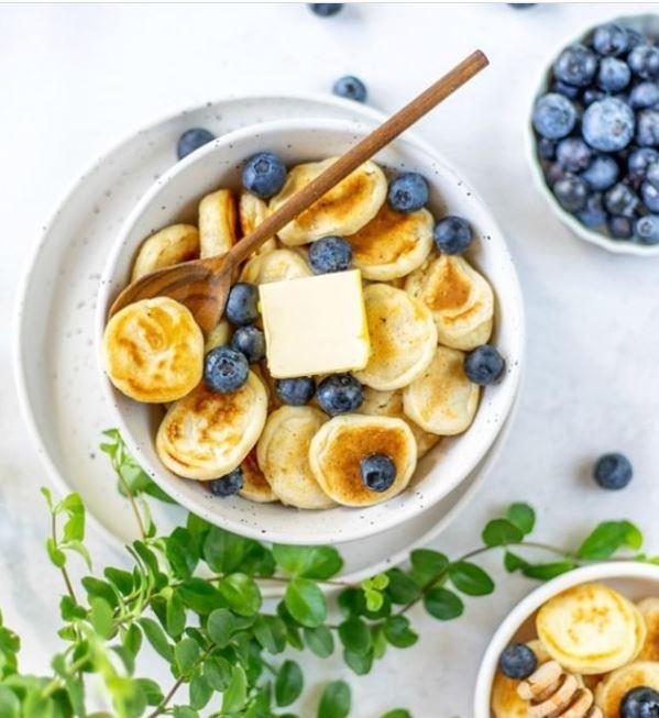 Receta para crear tu cereal de mini hot cakes