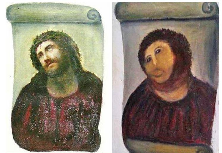 Restauraciones de arte fallidas