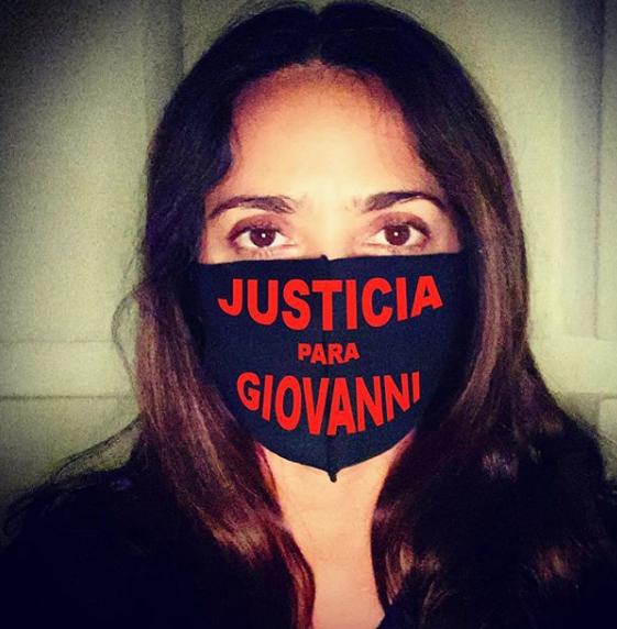 Salma Hayek justicia Giovanni López famosos