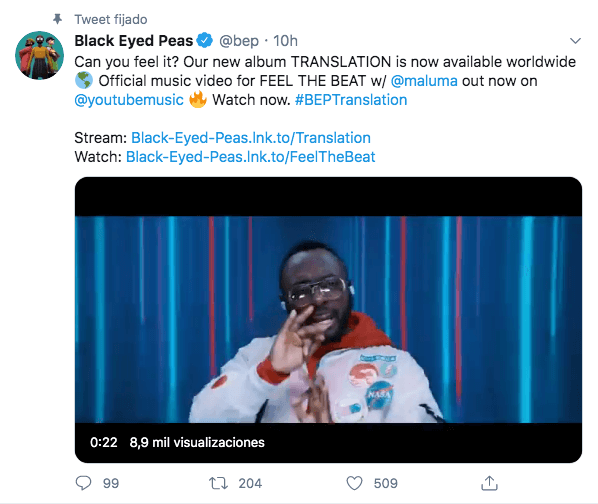 Black Eyed Peas Translation colaboración Maluma Shakira J Blavin