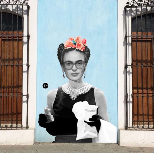 Efedefroy, artista urbano, llena las calles de Oaxaca con emblemáticos personajes mexicanos