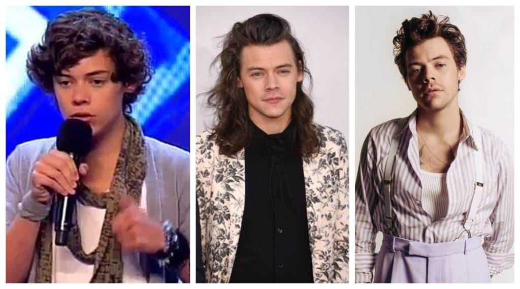 One Direction antes y después Harry Styles
