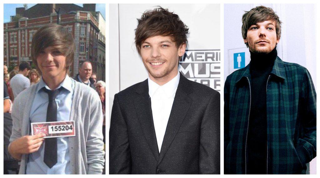 One Direction antes y después Louis Tomlinson