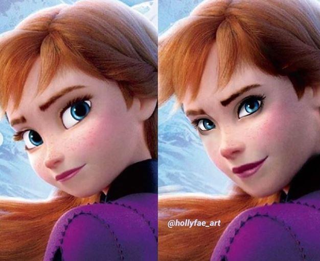 Princesas Disney con facciones súper realistas