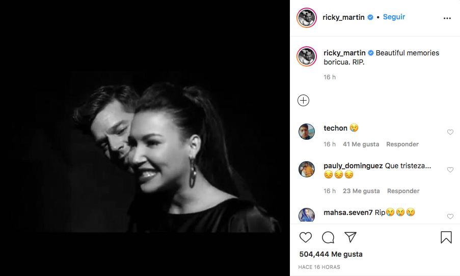 celebridades Naya Rivera mensajes