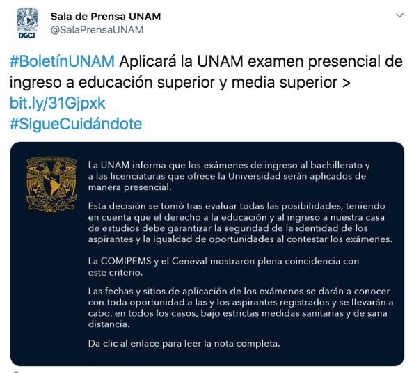 examen ingreso media superior y superior UNAM COMIPEMS