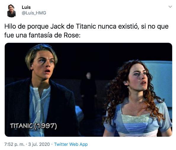 Jack Titanic no existió fantasía Rose