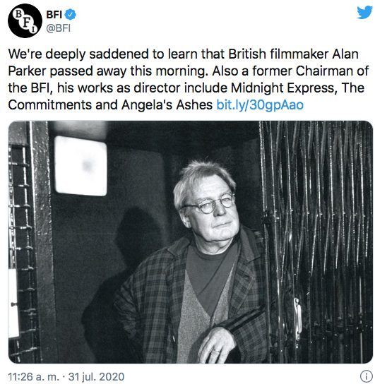 muere Alan Parker director Pink Floyd The Wall