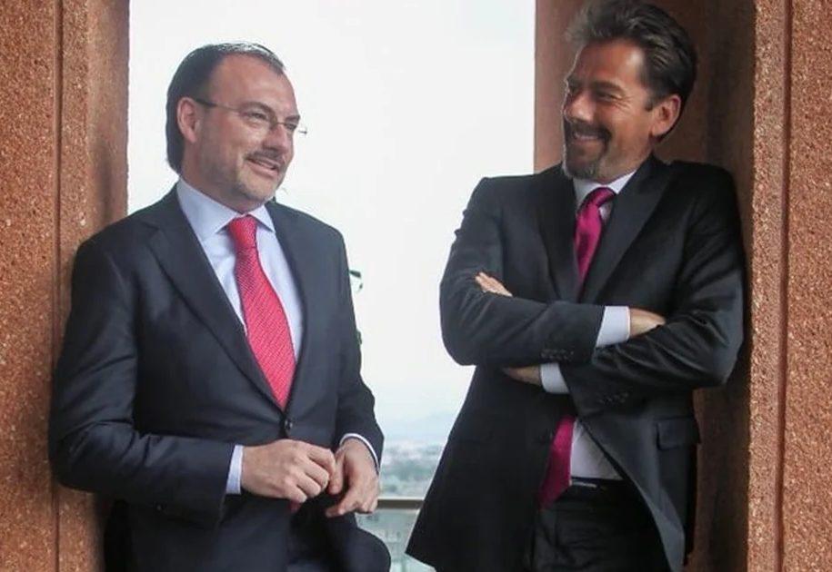 Roberto Palazuelos saludo Eduardo Videgaray hermano Luis