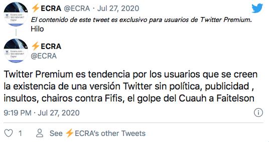 qué es Twitter Premium