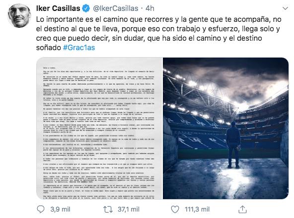 Iker Casillas retiro fútbol