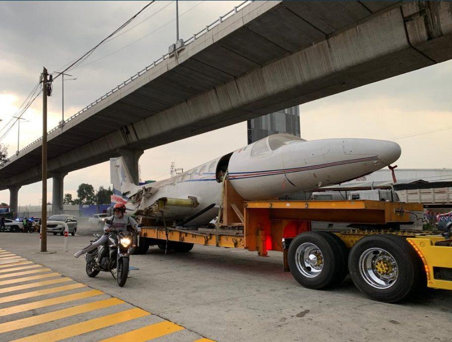 avión atorado Tlalpan Viaducto