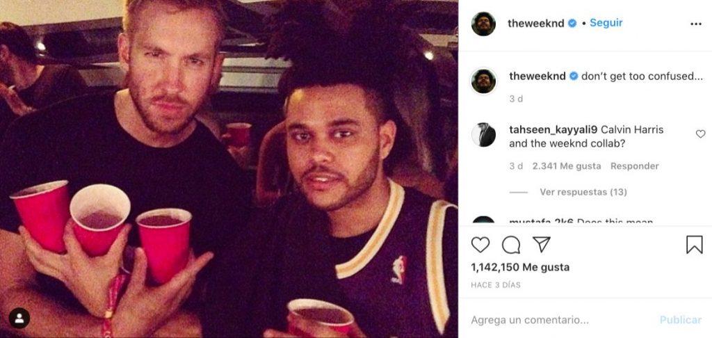 The Weeknd Calvin Harris colaboración canción