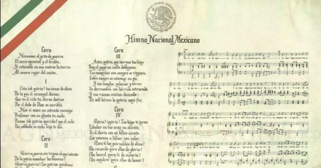 datos curiosos Himno Nacional Mexicano