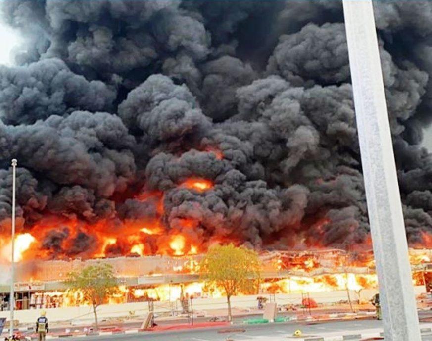 Emiratos Árabes incendio
