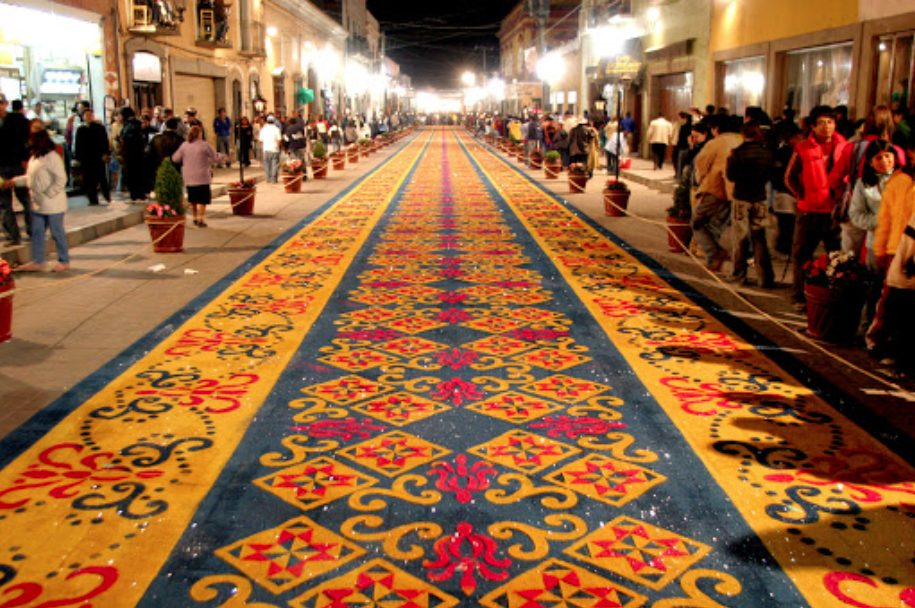 tapetes monumentales México huamantla