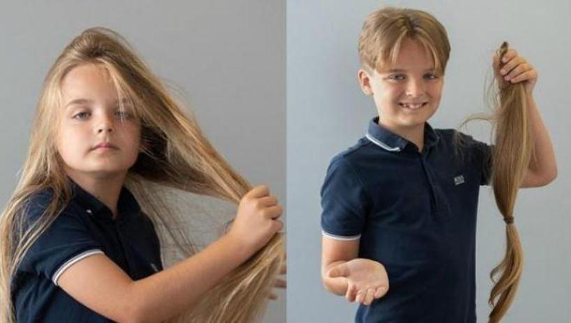 Niño de 9 años donó su larga cabellera para una causa benéfica