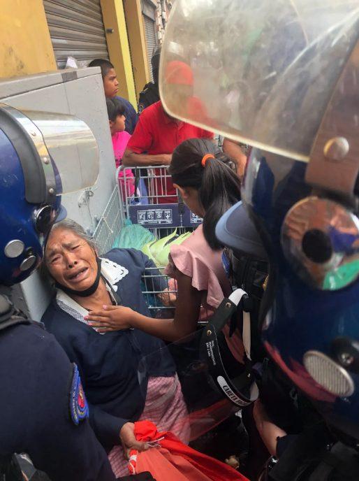 señora mercancía policía Centro CDMX