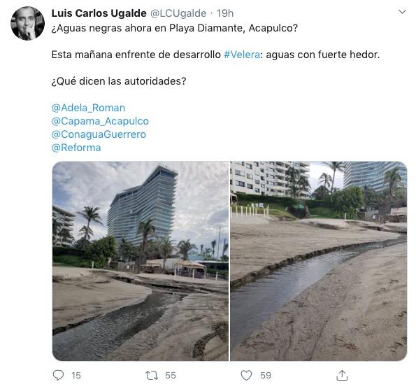 denuncian descarga aguas negras Acapulco