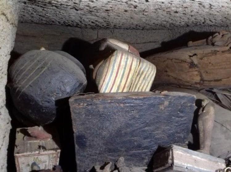 sarcófagos Egipto Saqqar 2500 años antiguedad