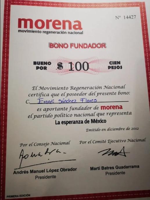 donación madre chapo Guzmán Morena 2012