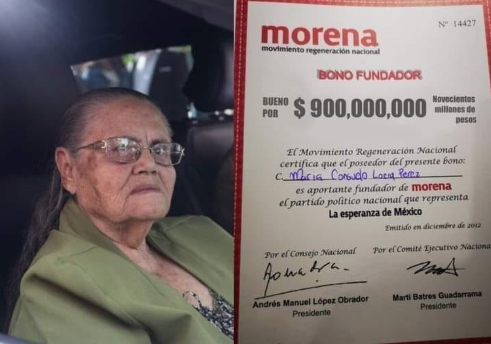 donación madre Chapo Guzmán Morena