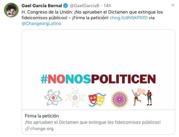 Gael García petición Fidecine