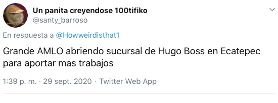 críticas AMLO Hugo Boss