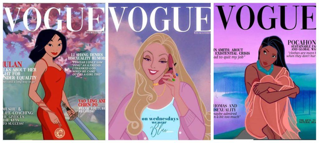Ilustradora crea nuevos looks para las Princesas Disney