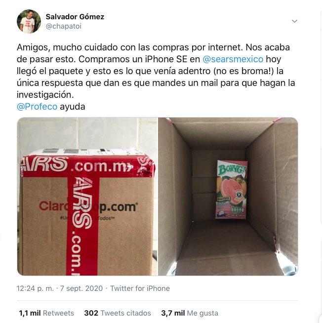 compra iphone sears recibe jugo