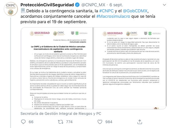 macrosimulacro Ciudad de México