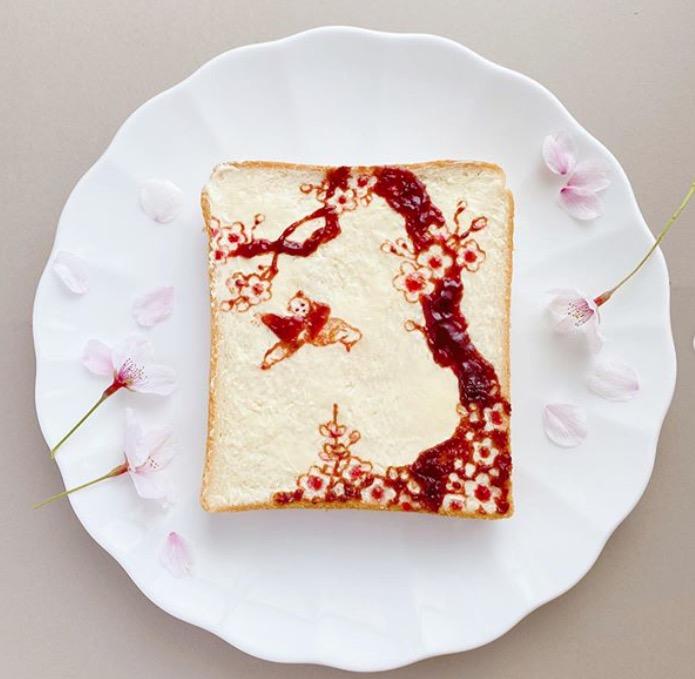 artista japonesa pan tostado dibujos