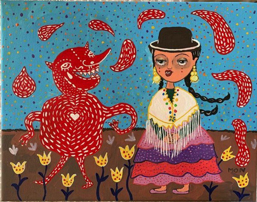 Mon Laferte Gestos exposición pinturas